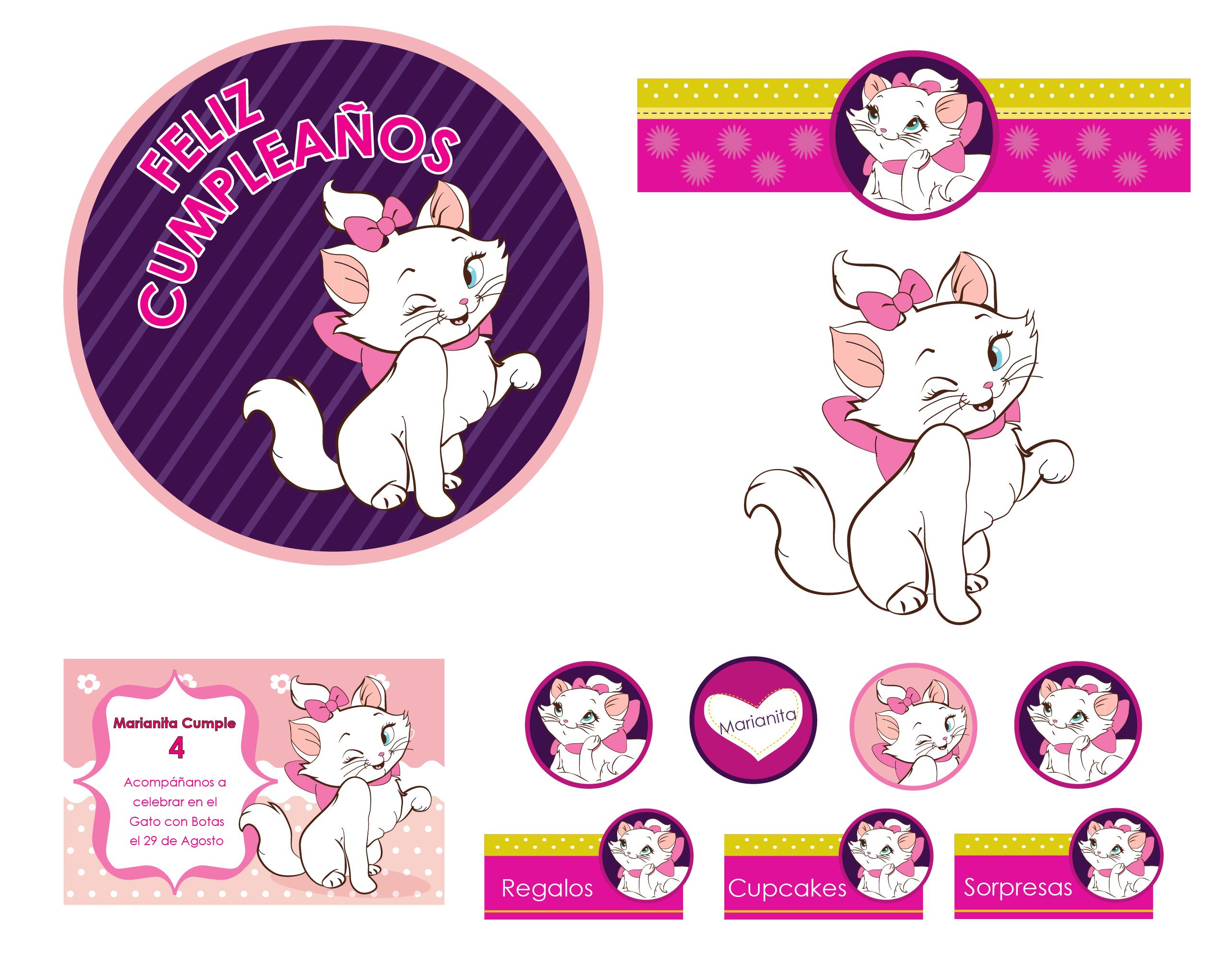 Cumpleaños con la gata Marie | Linuras Diseño
